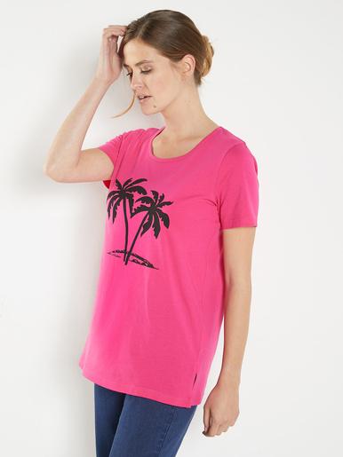 Lot de 2 tee-shirts, uni et palmiers