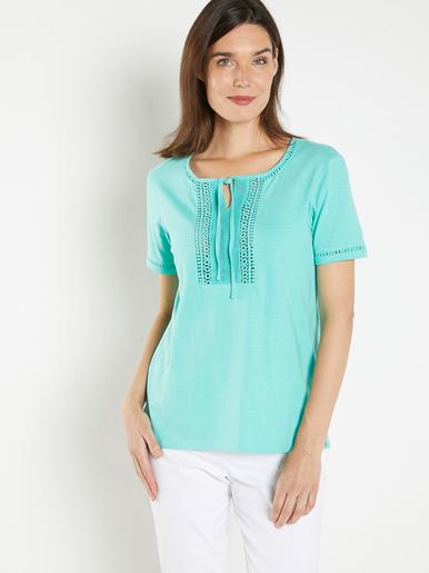 Tee-shirt guipure et détails crochet