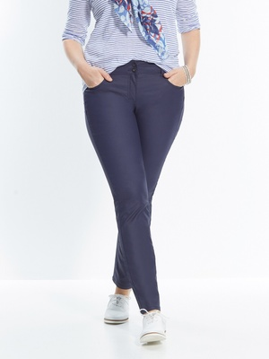 Pantalon droit enduit, coupe push-up