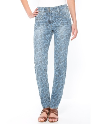 Pantalon push-up, motif fleurs