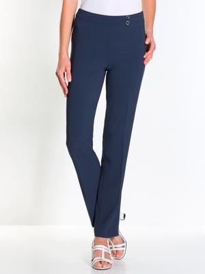 Pantalon élégant droit, tissu fantaisie