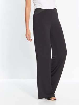 Pantalon noir coupe large