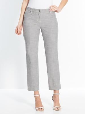 Pantalon fluide faux-uni