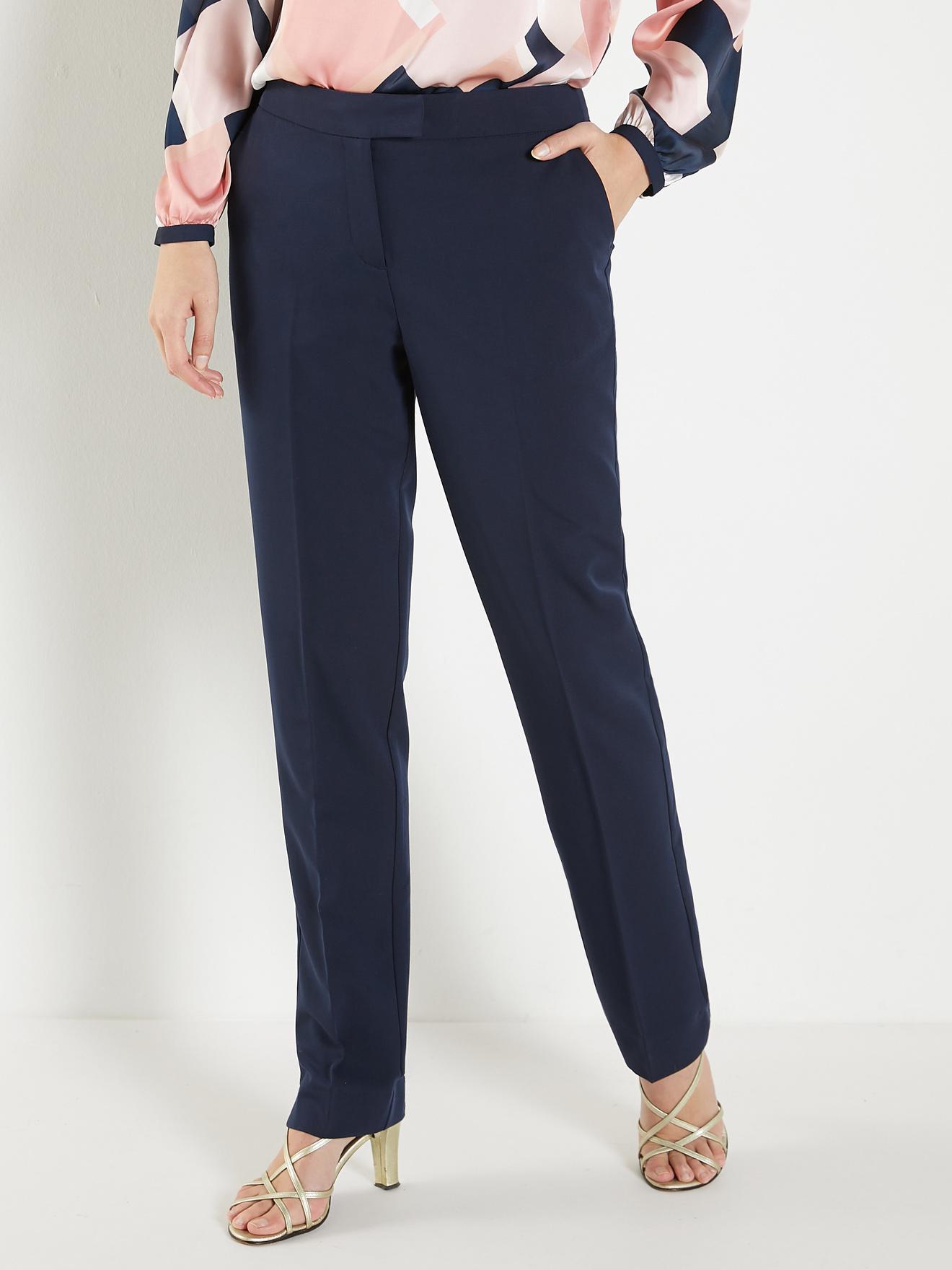 plus récent 99b6b d019e Pantalon classique, en tissu sergé