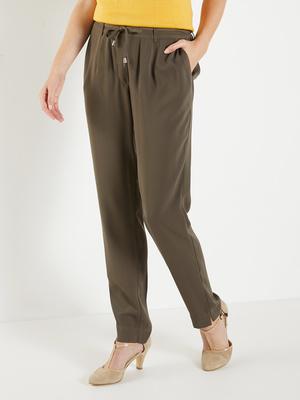 Pantalon en crêpe fluide