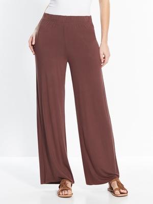 Pantalon large, en maille extensible