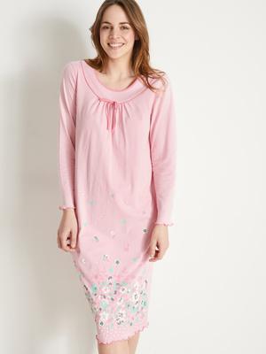 Chemise de nuit coton, manches longues