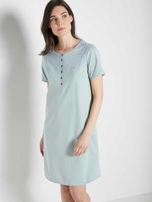 Chemise de nuit manches courtes en coton