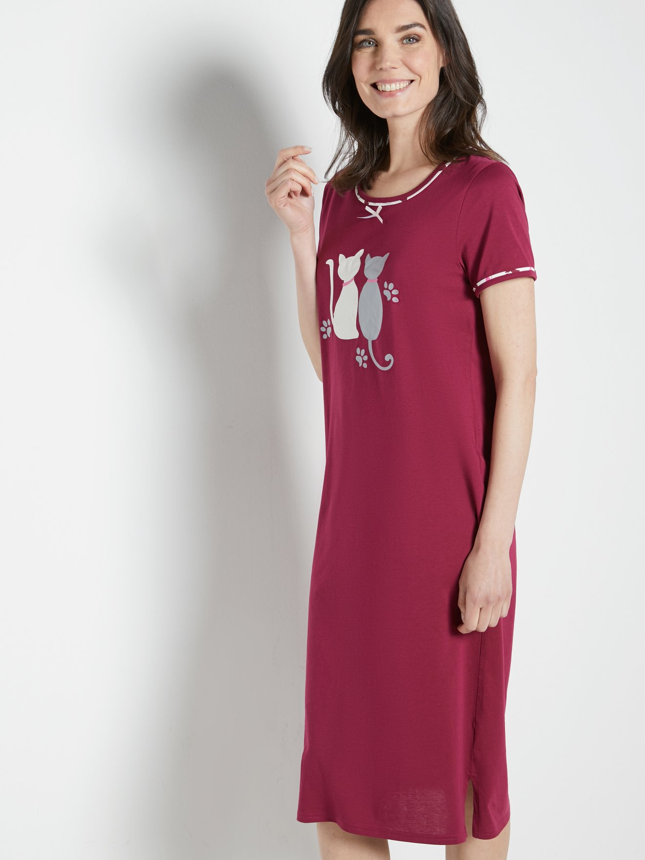 boutique pour officiel comment acheter nouvelles promotions Lot 2 chemises de nuit manches courtes