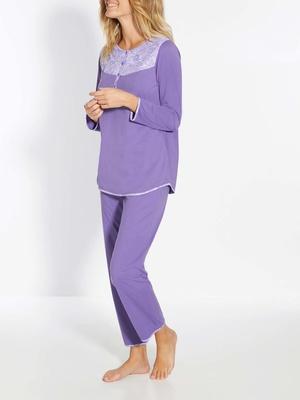 Pyjama empiècement fantaisie