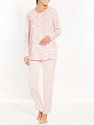 Pyjama en maille, entièrement boutonné