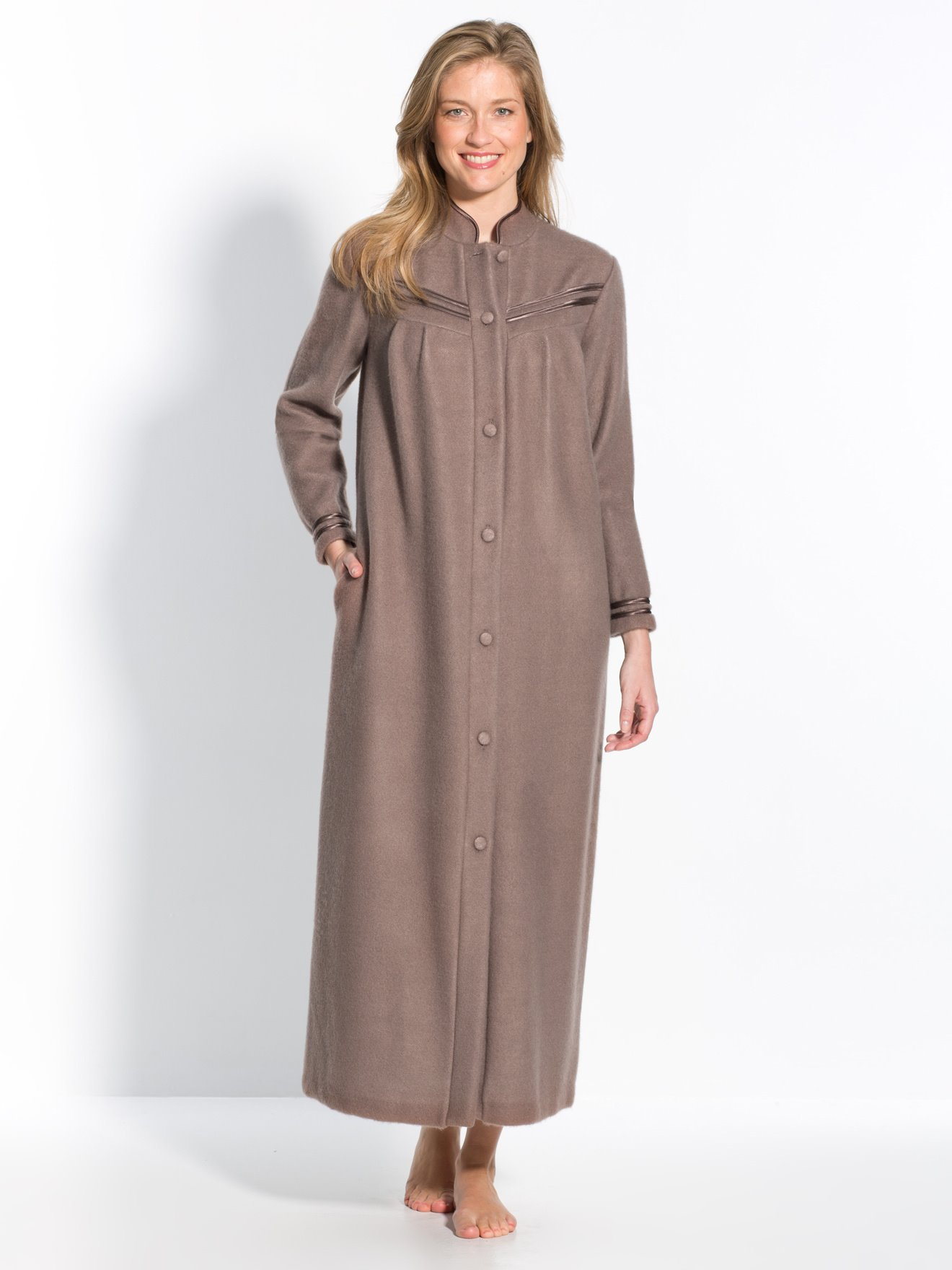 Robe De Chambre Polaire Femme Zippée