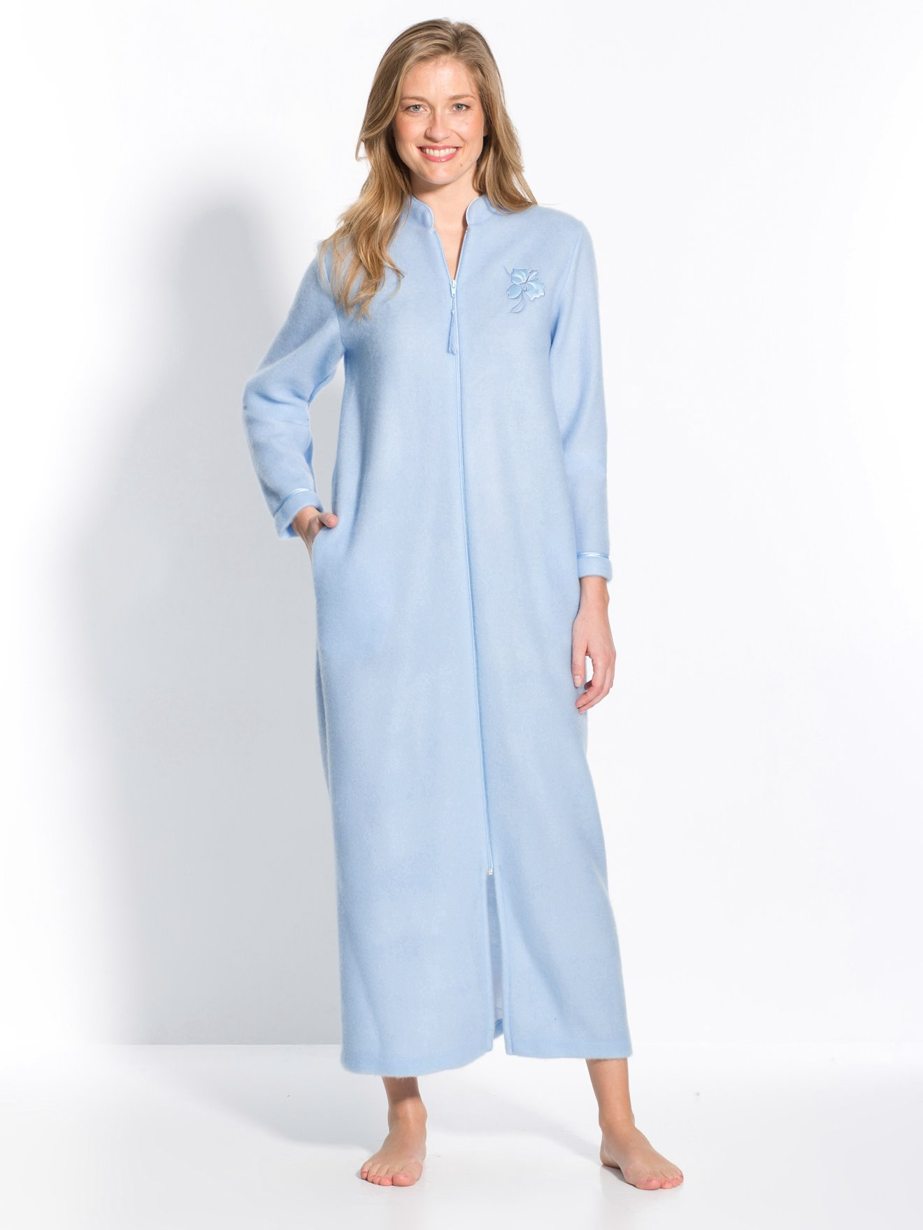 Robe De Chambre Zip Molleton Courtelle
