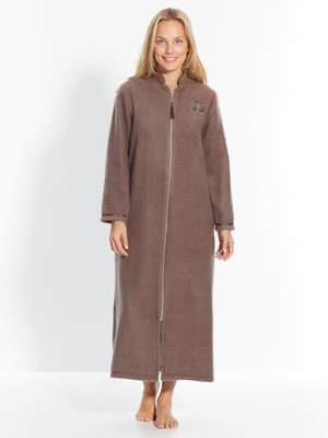 Robe de chambre zip, molleton courtelle