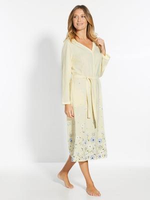 Peignoir kimono tout boutonné
