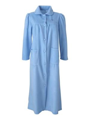 Robe de chambre molleton, col Claudine