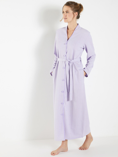 Robe de chambre pastel, maille jacquard