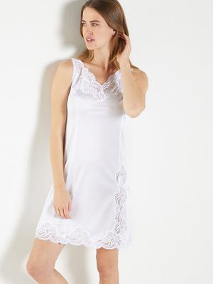 Fond de robe maille satinée, long. 90cm