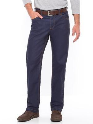 Jean 5 poches enduit, coupe droite
