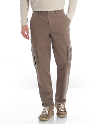 Pantalon multipoches, pur coton