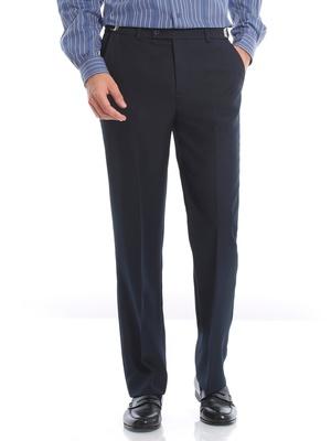 Pantalon en tissu uni souple