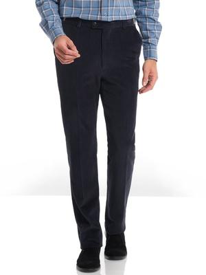 Pantalon droit velours, taille réglable
