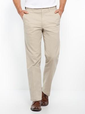 Pantalon extensible, ceinture droite