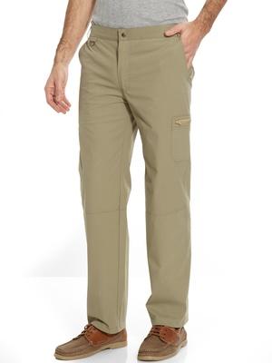 Pantalon droit multipoches extensible