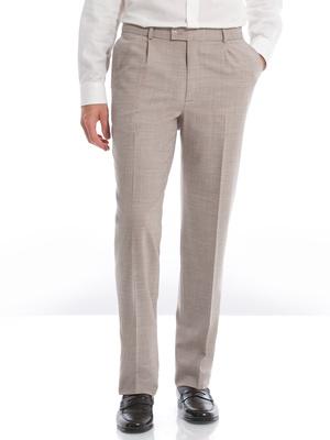 Pantalon à pinces, ceinture extensible