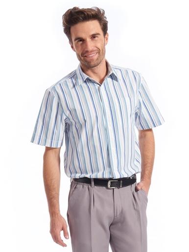 Chemise pur coton manches courtes