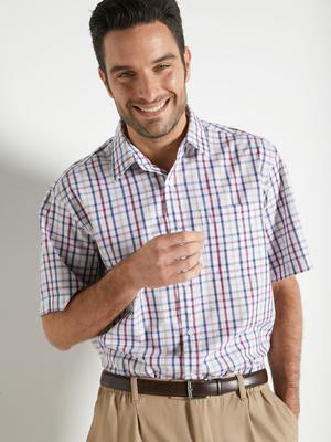 Chemise manches courtes, pur coton