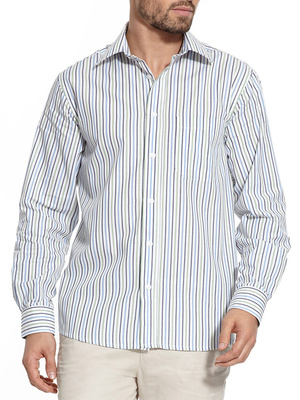 Chemise manches longues, coupe droite