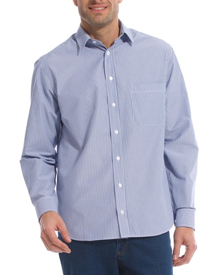 Chemise rayée, manches longues