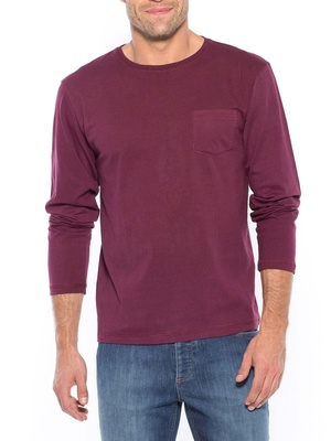 Tee-shirt manches longues, poche poitrin