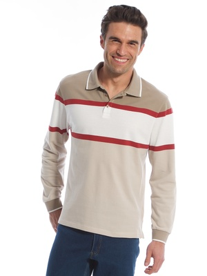 Polo manches longues, pur coton