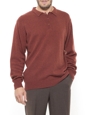 Pull col polo, laine vierge