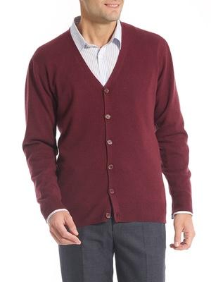 Gilet boutonné laine et cachemire