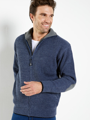 Gilet zippé fourré, 30% laine