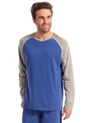 Tee-shirt pyjama col V manches longues