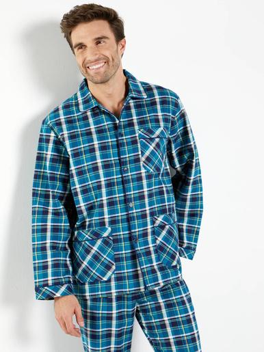 Flanelle Pur Pyjama En Coton Homme MUqVSpzG