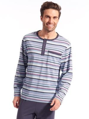 Pyjama rayé pur coton peigné