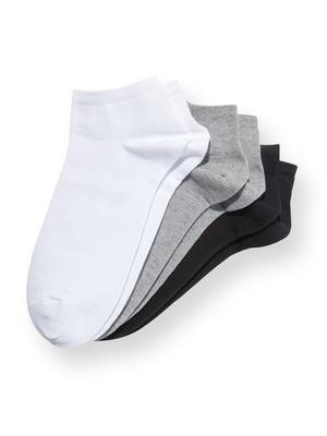 Socquettes coton majoritaire, 3 paires