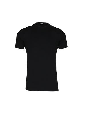 Tee-shirt encolure ronde, pur coton