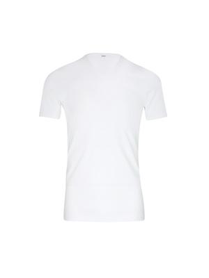 Tee-shirt encolure V, pur coton