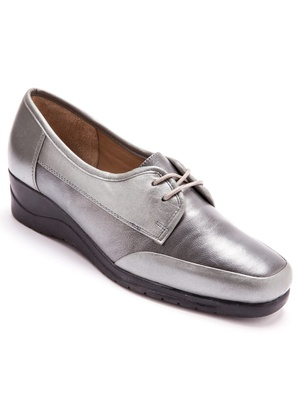 Derbies à lacets grande largeur, cuir