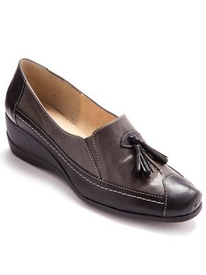 Sans-gêne en cuir, largeur confort