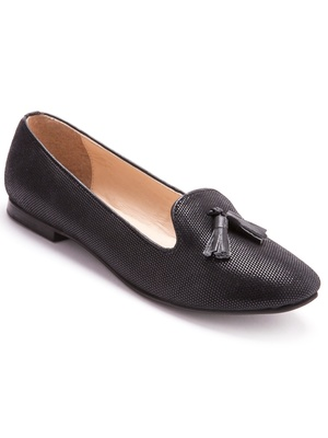 Mocassins en cuir, largeur confort