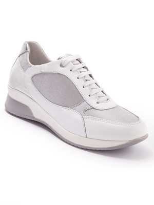 Baskets cuir blanc