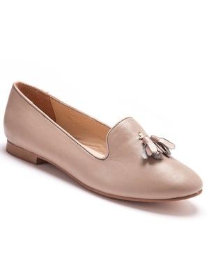 Slippers cuir grande largeur