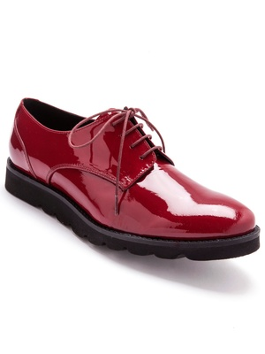 Derbies cuir verni